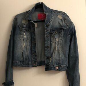Guess distressed denim jacket